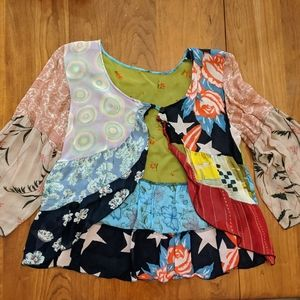 Silk cardigan - unique, flowy, multiple patterns